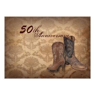 aniversario del país 50 o de las botas de vaquero comunicado personal