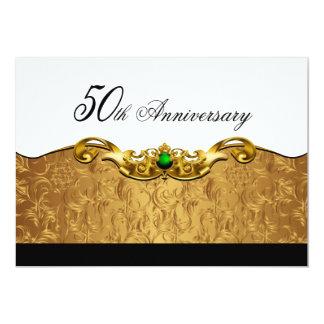 Aniversario elegante del Barroco 50.o Invitación 12,7 X 17,8 Cm