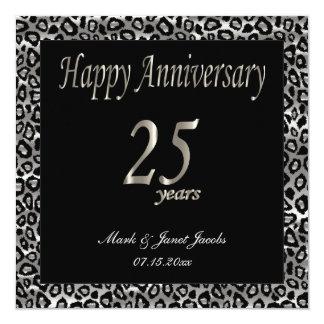 Aniversario feliz 25 años invitación 13,3 cm x 13,3cm