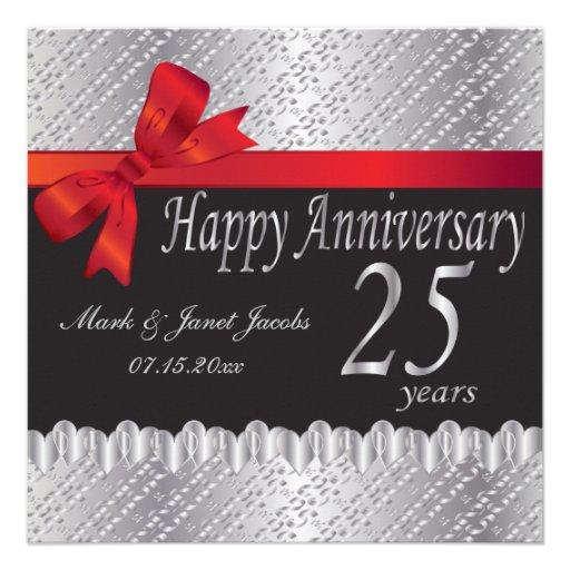 Aniversario feliz 25 años anuncio