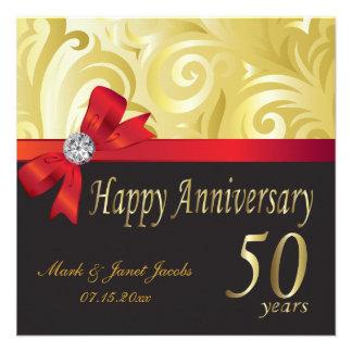 Aniversario feliz 50 años anuncios personalizados