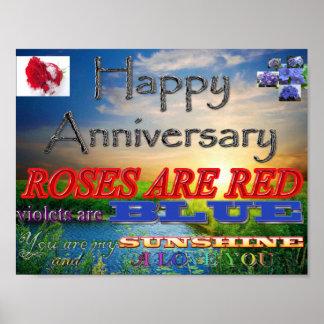 Aniversario feliz a póster