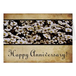 Aniversario feliz aumentado de Dasies Tarjeta De Felicitación