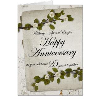 Aniversario feliz como usted celebra 25 años de To Tarjeton