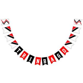 Aniversario feliz de la independencia TRINBAGO Banderines