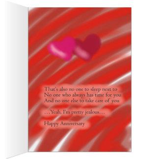 Aniversario feliz de un solo amigo tarjeta de felicitación