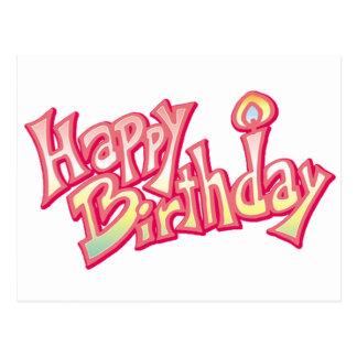 Aniversario feliz del feliz cumpleaños postal