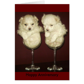 Aniversario feliz tarjeta pequeña