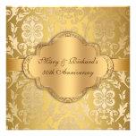 Aniversario floral del oro 50.o del remolino del d