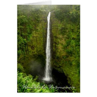 Aniversario-Hawaii feliz Tarjeta Pequeña