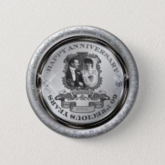 Aniversario ID195 del vintage 60.o Chapa Redonda De 5 Cm