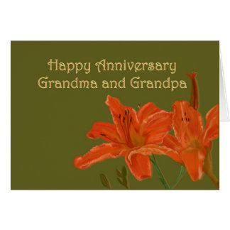 Aniversario para la abuela y el abuelo felicitaciones