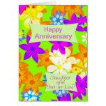 Aniversario para la hija y el yerno tarjetas