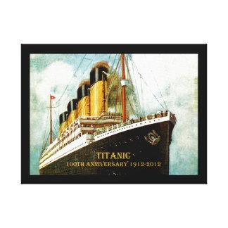 Aniversario titánico del RMS 100o Impresión En Lienzo