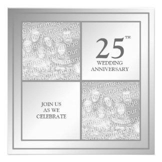 Aniversario último y actual de la plata de la foto anuncio personalizado