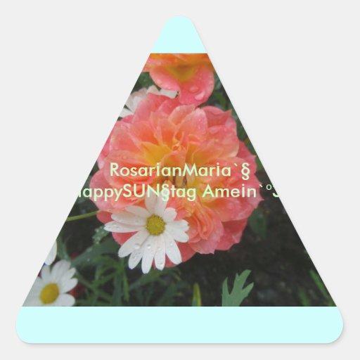 ¡anMar del ¡de Rosar un ` s SUNnyrosedayz3* Calcomania Triangulo Personalizadas
