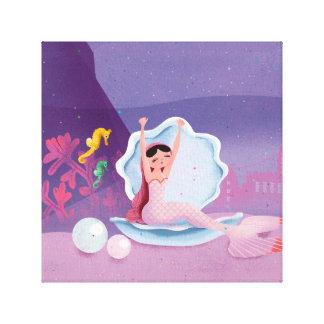 Annabella la sirena que despierta lienzo
