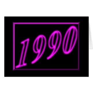 Año 1990 del feliz cumpleaños de los años 90 de tarjeta de felicitación