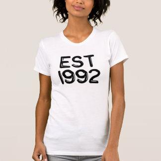 año 1992 del nacimiento est 1992 camiseta