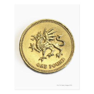 año-2000, mostrando el detalle del dragón passant postal