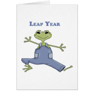Año bisiesto tarjetas