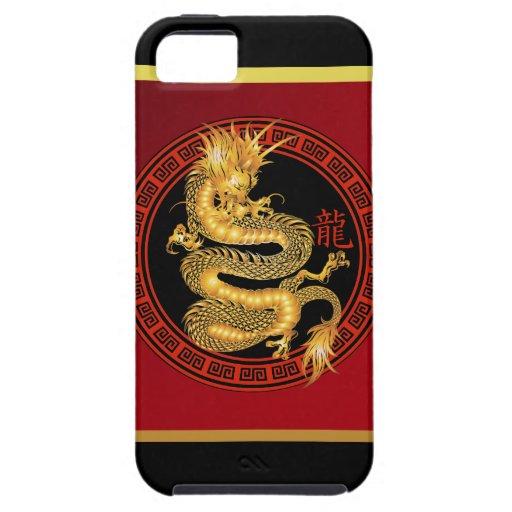 Año chino adornado del dragón 2012 iPhone 5 carcasa