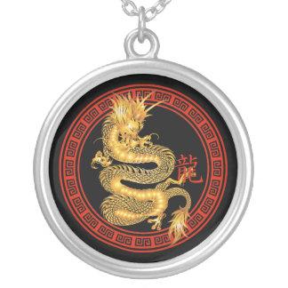 Año chino adornado del dragón colgante redondo