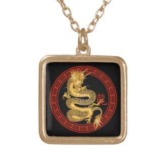 Año chino adornado del dragón collares personalizados