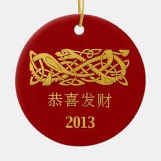 Año chino de la decoración colgante de la serpient ornamentos de reyes