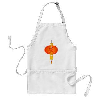 Año chino de la linterna de papel del mono delantal