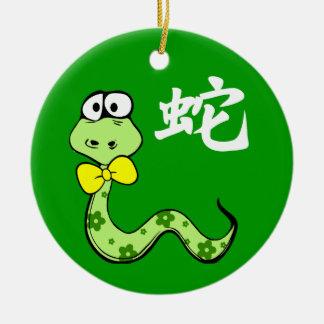 Año chino de los ornamentos del regalo de la adorno redondo de cerámica