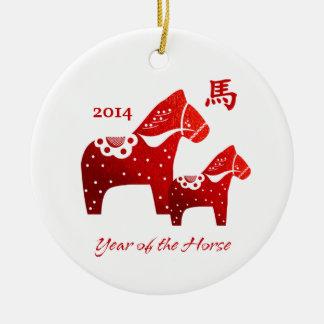 Año chino de los ornamentos del regalo del caballo ornamento para reyes magos