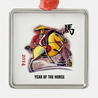 Año chino de los ornamentos del regalo del caballo adorno de reyes