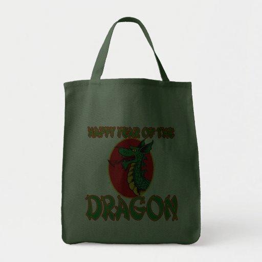 Año chino del dibujo animado del dragón bolsa de mano
