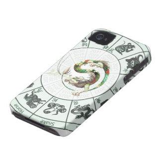 Año chino del dragón 2012 iPhone 4 Case-Mate carcasa