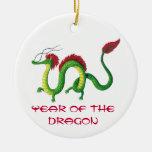 Año chino del dragón adorno de reyes