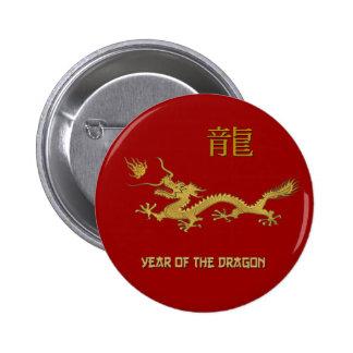 Año chino del dragón pins