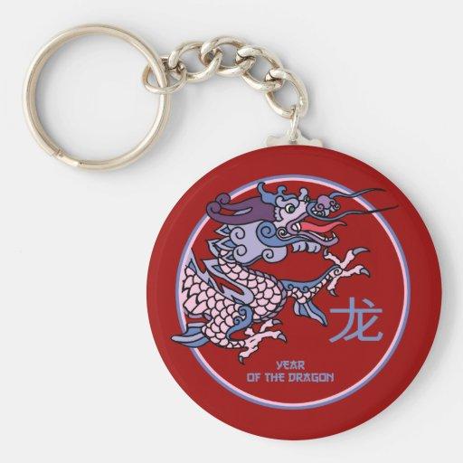Año chino del dragón llavero
