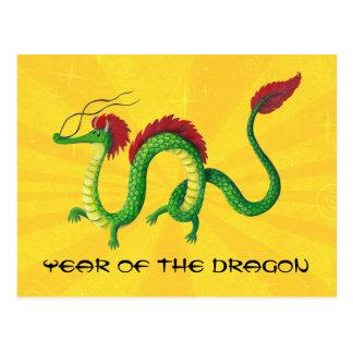 Año chino del dragón postal