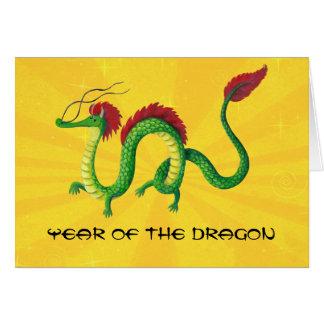 Año chino del dragón tarjeta de felicitación