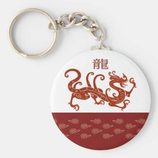 Año chino del llavero del regalo del dragón