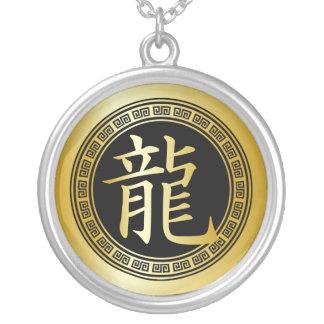 Año chino del símbolo del dragón GBG Colgante Redondo