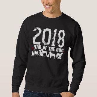 Año chino del sudor 2018 del ideograma del sudadera