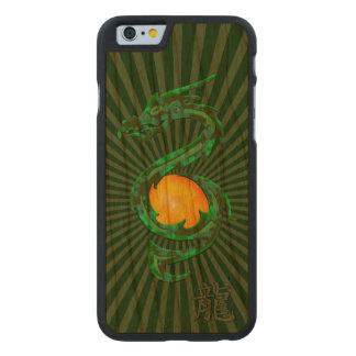 Año chino del verde de jade del dragón funda de iPhone 6 carved® de cerezo