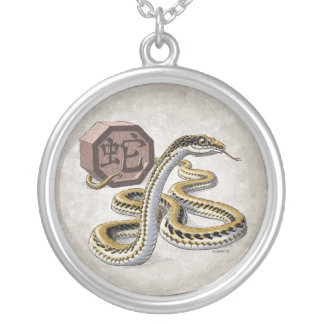 Año chino del zodiaco del arte de la serpiente colgante redondo