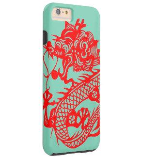 """""""Año de caja del teléfono del dragón """" Funda De iPhone 6 Plus Tough"""