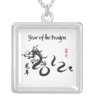 Año de la caligrafía negra del dragón 2012 joyeria