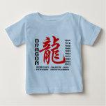 Año de la camiseta de las características del