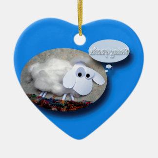 ¿Año de las ovejas? Año Nuevo chino 2015 Adorno Navideño De Cerámica En Forma De Corazón