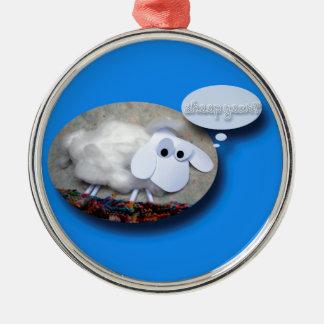 ¿Año de las ovejas? Año Nuevo chino 2015 Adorno Navideño Redondo De Metal